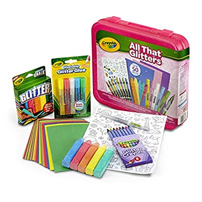 Crayola All That Glitters Art Case Coloring Set, Toys, Gifts for Girls & Boys, Age 5+
