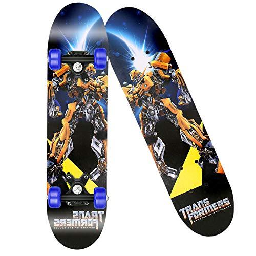LJ Home Komplettes Skateboard, Double Kick Trick Board Für Erwachsene, Kinder Und Jugendliche, Mehrere Designs,Vajra