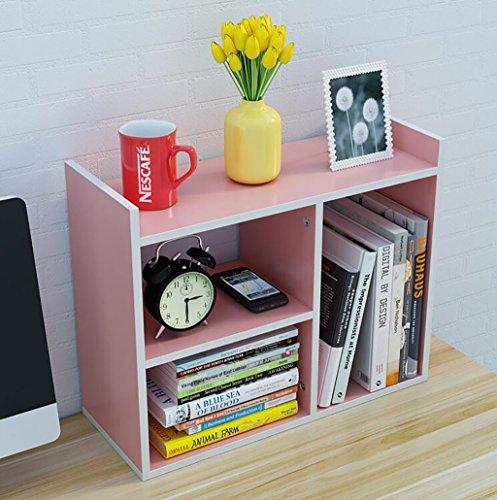 European Simplicity Style Kinder Density Board Table Shelves, Desktop Kleine Bücherregale Office Bookcase Flower Racks (Farbe : 2*, größe : L50*H40*W16.8CM)