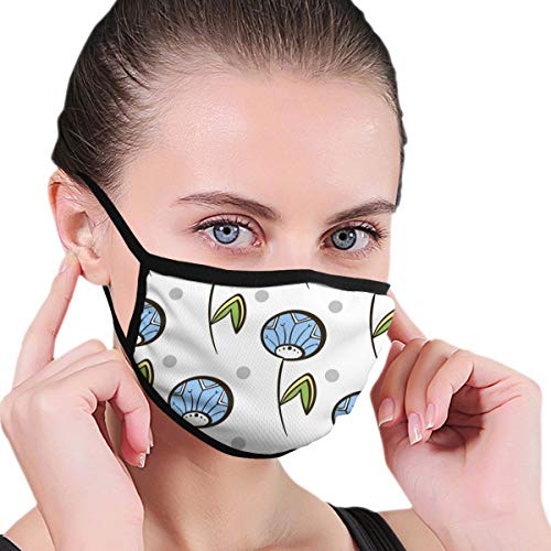 Seamless Pattern Dandelions Vector Image Face Masks For Dust Protection Cotton Washable Reusable For Men And Women Universal