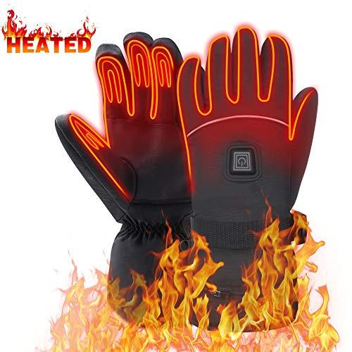 Mermaid Beheizte Handschuhe mit 7.4V-Akkus, Herrenhandschuhe für chronisch kalte Hand, Handwärmer-Handschuhe Erhitzte Motorradhandschuhe...