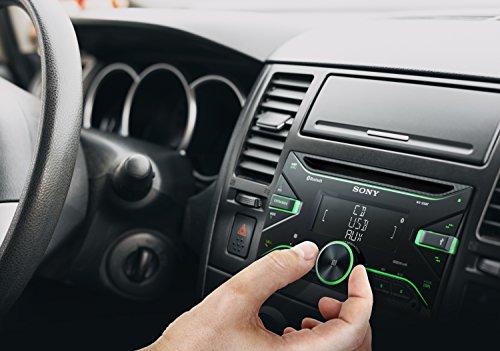 Sony WX-920BT - Autoradio CD double DIN avec technologie Bluetooth Dual (4 x 55 W, Commandes vocales compatible avec Siri Eyes et Android, USB, Dynamic Colour Illuminator), Noir