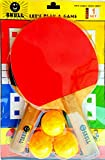 AMAZING DEAL Amazing Table Tennis Play Set Combo (2 Bat and 3 TT Balls) Gift Ping Pong Indoor Game for Fun, Activity and Fitness for Children & Adults