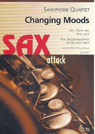 Changing Moods. Three Pieces For Saxophone Quartet/Tres unidades para saxofón Quartett aatb o satt (Partitura y Voces)