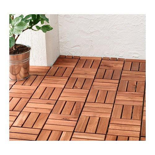 Outdoor vloerbedekking, panelen, 9 Pack bruin gekleurd