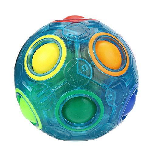 callm Educational Toy,Puzzle Toy Luminous Stress Reliever Magic Rainbow Ball Fun Cube Fidget Puzzle Education Toy