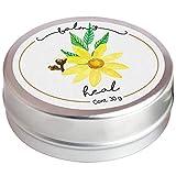 Balm's Heal de 30gr (balsamo natural de cera de abeja y aceite de arnica, aceite esencial de clavo y menta para golpes, activa la circulación, contracturas musculares, moretones)