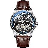 Reloj Original para Hombre Reloj Doble tourbillon Reloj automático para máquina Ahuecado Hombres Luminoso Impermeable Nuevo diseño