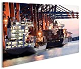 islandburner Bild Bilder auf Leinwand Containerhafen