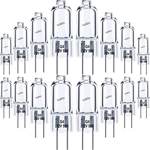 20 Stück G4 Halogen Lampen Glühbirnen Klar Kapsel 12 V Ersatz für Herd Beleuchtung, Signalleuchten, Energie Klasse C (5.00)