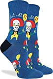 Good Luck Sock - Calcetines de payaso para mujer, color azul, talla 5-9