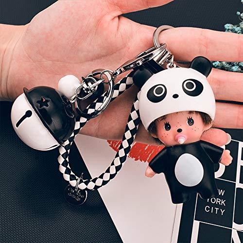 Iadong 2 Stück Schlüsselanhänger, Super Süße Cartoon Schlüsselanhänger Taschen Auto Hängend Anhänger Mode Zubehör Geschenk für Geburtstag Jahrestag Weihnachten
