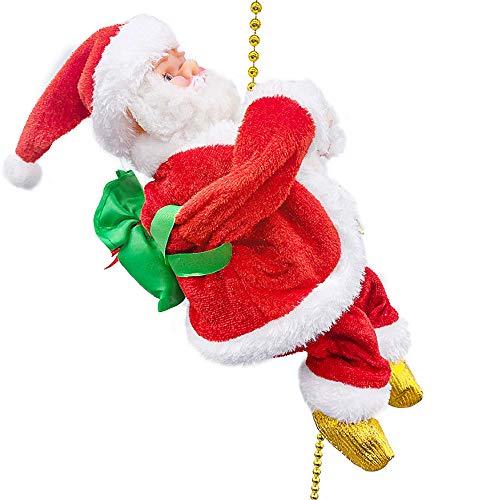 Finoki Kletternde Weihnachtsmann, Kletternder Nikolaus Lichtseil Weihnachtsdeko Christmas Weihnachtsmann Santa