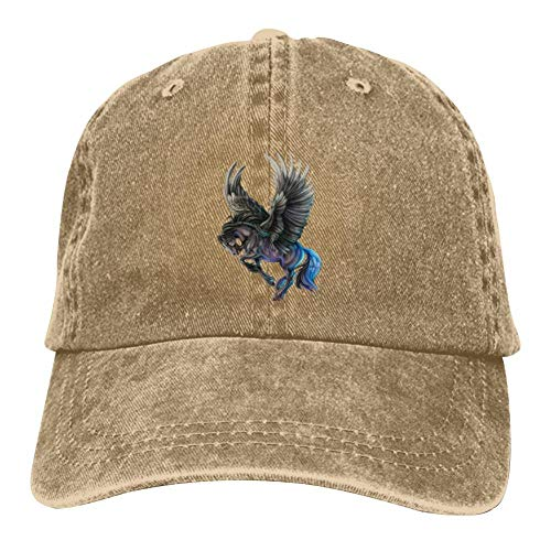 HUANGPW Unicorn Unisex Denim Hut Einstellbare Mode Baseball Cap Casual Sport Multifunktions Kappe Gr. Einheitsgröße, natur