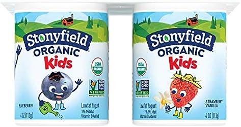 Stonyfield Organic, YoKids Blueberry and Strawberry Low Fat Yogurt, 4 oz, 6 Count
