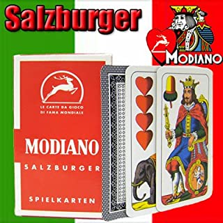 Salzburger Modiano Regional Italian Playing Cards. Authentic Italian Deck.