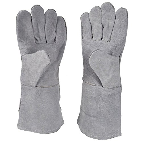 "13"" Heat Resistant Safety Melting Furnace Gloves Refining Casting Gold Silver Copper"