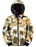 Wantdo Boy's Padded Winter Coat Thicken Jacket with Hood Army Green Camo 6/7