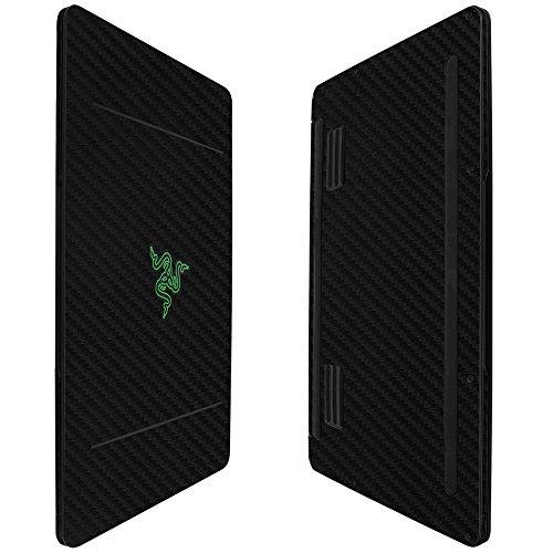 Skinomi Black Carbon Fiber Full Body Skin Compatible with Razer Blade Stealth (RZ09-0168, 12.5 inch)(Full Coverage) TechSkin with Anti-Bubble Clear Film Screen Protector