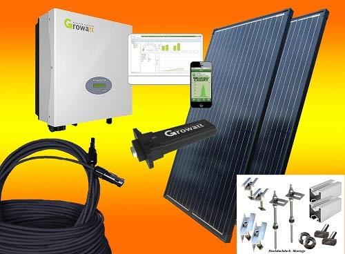 600Watt Balkonkraftwerk MIT MONTAGEMATERIAL FLACHDACH mit Stockschrauben/Solaranlage mit Internetüberwachung bau-tech Solarenergie GmbH