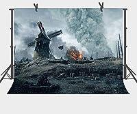 HD10x7ft背景ひどい戦争遺跡写真背景写真小道具