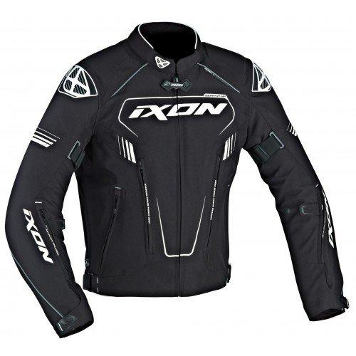 Ixon–Chaqueta Moto–Ixon Zephyr HP Negro/Blanco–XXL
