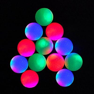 12-piece Flashing Golf Balls