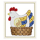 YZDKJ Gallina Huevos for incubar Cruz Chino Kits de algodón ecológico Impreso 11CT 14CT DIY Decoración (Cross Stitch Fabric CT Number : 14CT 29X33 cm, Size : Printed)