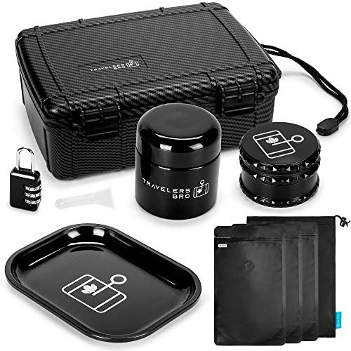 Smell Proof Stash Box Kit with Accessories Including Herb Grinder Airtight Container Rolling product image