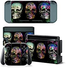 Mcbazel Pattern Series Vinyl Skin Sticker For NS Switch Controller & Console Protect Cover Decal Skin (Color Skull)