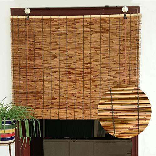 LMDX Persiana Bambu Exterior - Persianas De Caña - Estores Enrollables, Ideal Persianas para Ventanas Y Puertas, con Accesorios De Instalación, Cocina Cortina De Madera