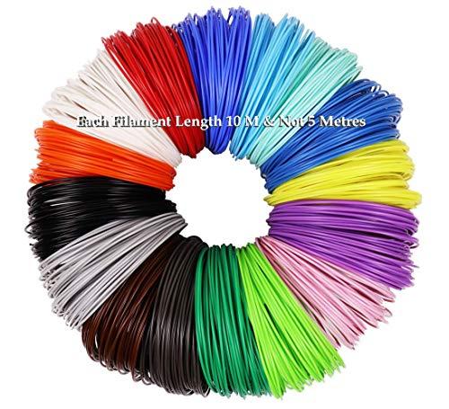 Magicwand® Set of 10 (10 Metres Each),1.75 mm PLA Filaments for 3D Pens ✨