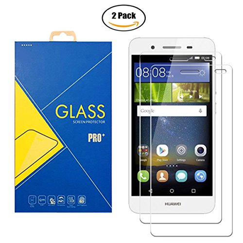Bildschirmschutzfolie aus gehärtetem Glas, 2er-Packung, kompatibel mit Huawei P8 Lite / ALE-L21 - stoßfest, kratzfest