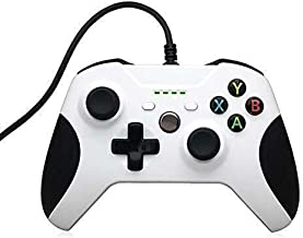 Wired Controller Gamepad Joystick for Microsoft Xbox One Windows 7 and Above(White) White