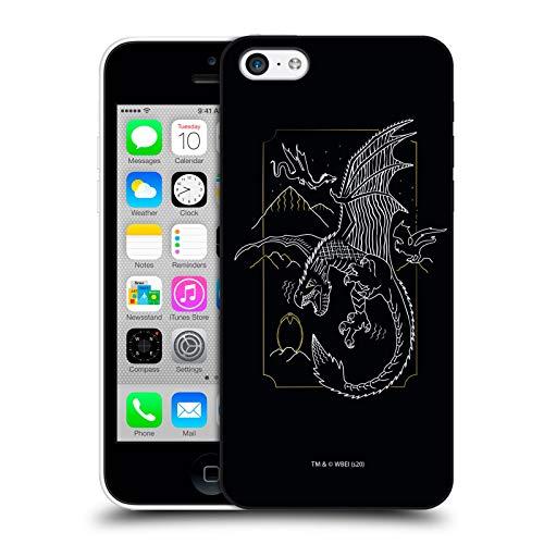 Oficial Harry Potter Horntail Reliquias de la Muerte XXII Carcasa rígida Compatible con Apple iPhone 5c