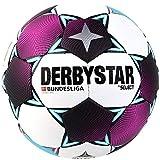 Derbystar Balón de fútbol Unisex de la Bundesliga Comet APS, Color Blanco, Magenta y Azul petróleo, 5