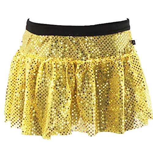 Yellow Sparkle Running Skirt M