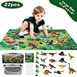 Sinceroduct Dinosaur Toys Activity Play Mat 47.2 x 31.5 in - 13 Realistic Dinosaur Figures Playset to Create a Dino World Including T-Rex, Educational Toy for Age 3 4 5 6 Year Old, Best Gift for Kids