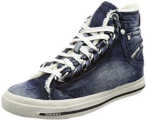 Diesel Damen Magnete Exposure IV W - snea Y01542 Hohe Sneaker, Blau (Indigo), 41 EU