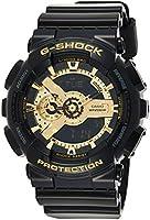ساعة كاسيو جي شوك للرجال مينا ذهبية سوار اسود- GA-110GB-1A