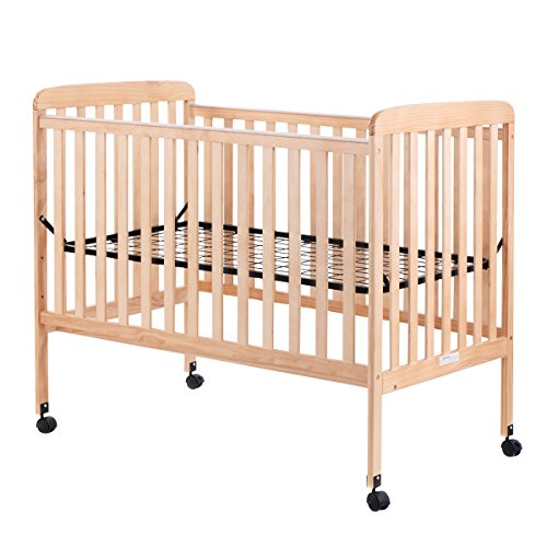 Costzon Baby Convertible Crib Toddler Bed Infant Nursery Furniture Wooden (Natural Wood)