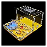 M3 Decorium Acryl Ant Casa de Hormigas de Hormigas de Hormigas de Hormigas para Mascotas Área de alimentación de la Torre de Agua Hidratante de la Torre de Agua (Color : 12x15x7.5cm|Yellow)