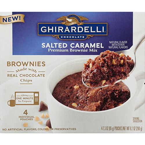 Ghirardelli Chocolate Salted Caramel Premium Brownie Mix Mug Treats 9.2 oz