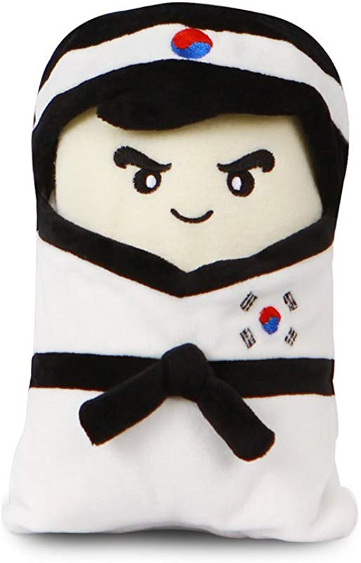 TAE S Taekwondo Inspired Fleece Blanket That Can Transform Into A Doll Multi Purpose Super Soft Lightweight And Fleece White Uniform Boy