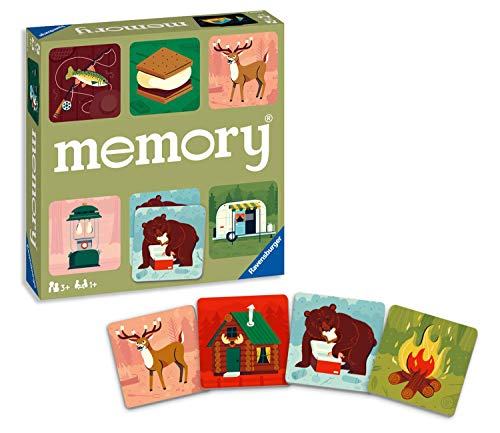 Ravensburger Great Outdoors Memory Game for Boys & Girls Age 3 & Up! - A Fun & Fast Camping Matching Game, 20359
