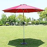 ERLAN Parasol Jardin Sombrilla de Césped con 8 Varillas de Aleación, Sombrillas de Patio para Mesa de Centro y Sillas, Grande 2,7 M, UV50 + Resistente a Los Rayos UV (Color : Red)