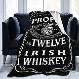 NotApplicable Fleece Blanket 12 Whisky Irlandés Mcgregor Inspirado Manta Suave De Vellón Manta De Tiro Manta De Franela Gran 153cmX204cm