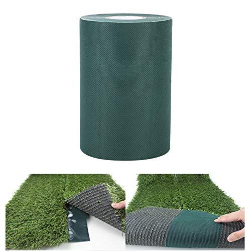 Cafopgrill Cinta Adhesiva para césped Artificial de 150 mm * 10 m Cinta Adhesiva para césped Alfombra Adhesiva de Hierba para césped (2 Colores)(Verde)