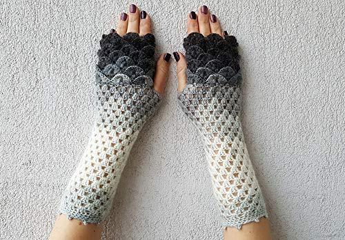 Handmade fingerless Sale price gloves Indefinitely