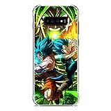 CHATERE Coque souple en silicone TPU pour Samsung Galaxy S10 Plus-Vegeta-Goku Bleu 4